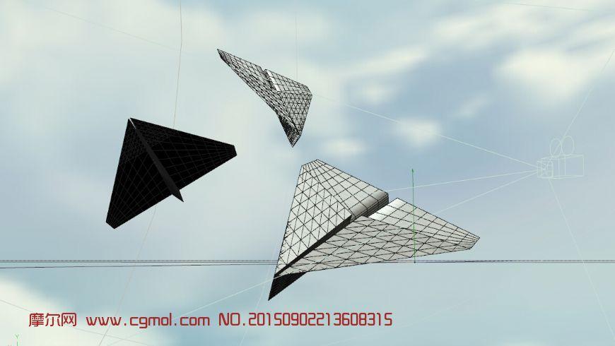 模型 纸飞机c4d模型