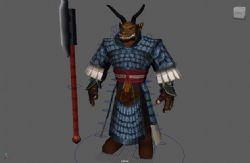 牛人战士maya模型
