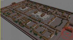 中式古典园林 故宫鸟瞰3D模型