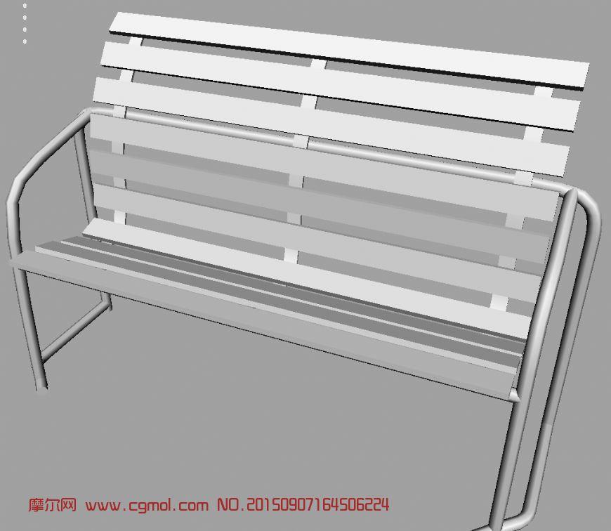 凳子,长条椅maya模型