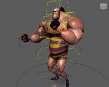 强壮的卡通男Maya模型
