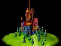 卡通迪士尼城堡