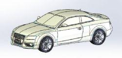 奥迪小车模型
