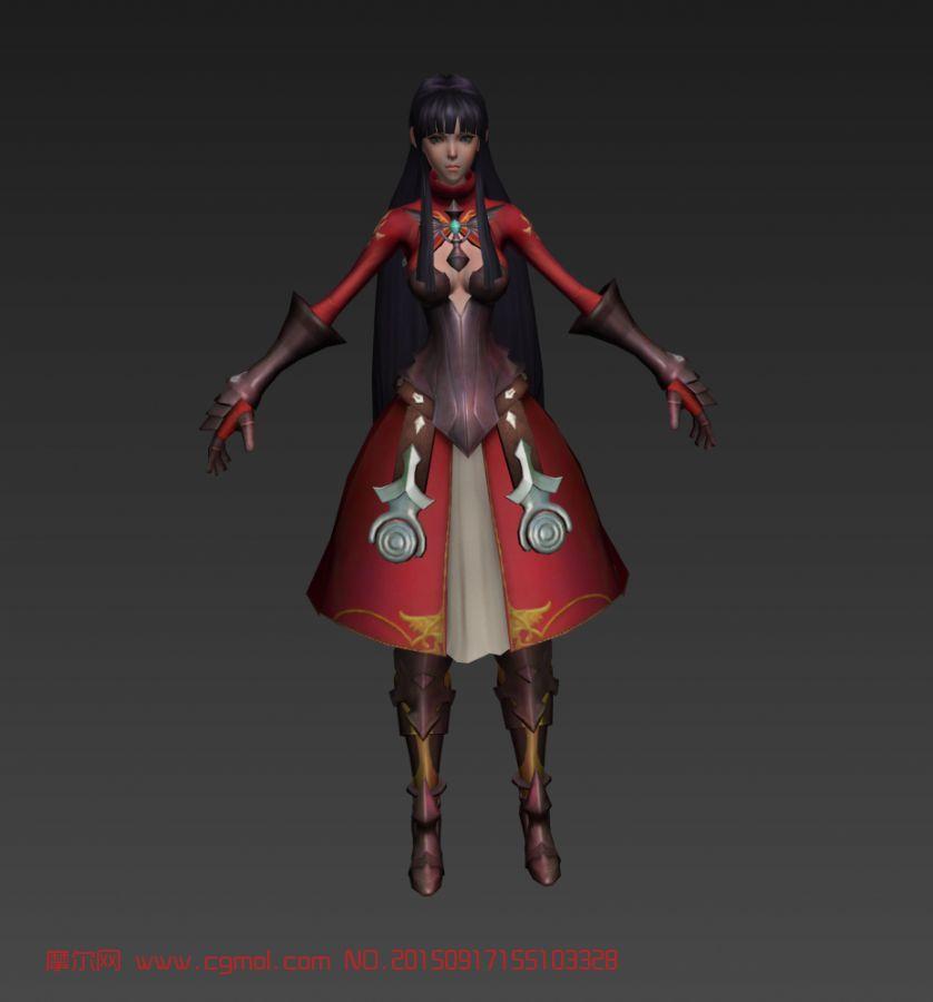 游戏女角色模型