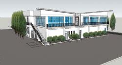 酒店建筑外观草图模型