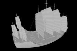 郑和宝船,古代船只三维模型