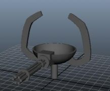 机枪与飞弹的maya模型