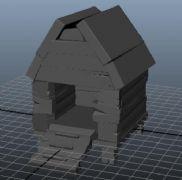 小木屋的maya模型