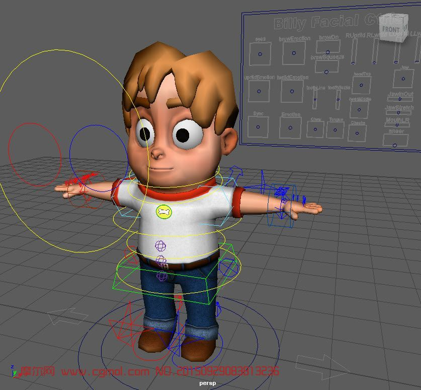 比利贝克男孩maya模型