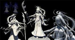 大波美女变身超级大刀战士maya模型