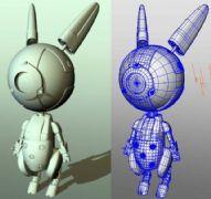 maya机械兔子,机器人模型
