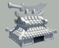 古代卡通武器店maya模型