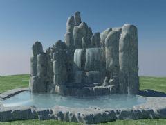 原创园林假山3D模型(max2009,带贴图)
