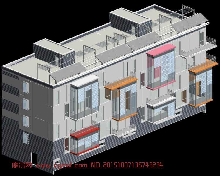 多层住宅楼3D模型