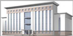 政府大楼建筑模型