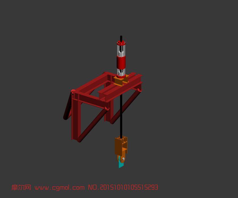 液压提升装置3d模型图片