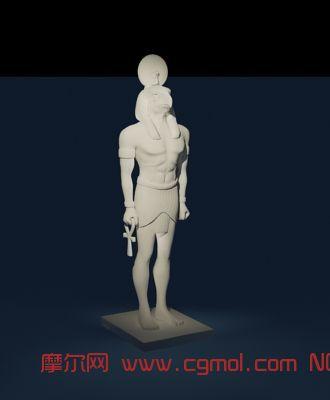 动物模型 其他  标签:埃及雕塑2