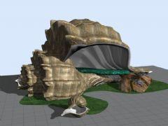 海螺情侣屋,公园建筑-雕塑小品