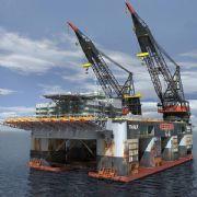海上油井钻井平台3D模型,已展开uv,并附有贴图文件