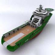 动态定位船舶模型,标准材质和Mental Ray材质,包括纹理。
