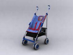 婴儿手推车3D模型