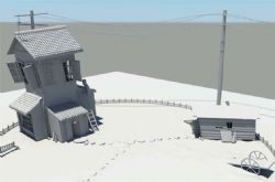 小屋maya模型