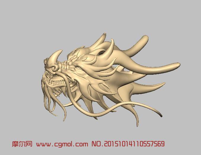 龙头雕刻,科幻角色,游戏角色,3d模型下载,3D模型网,maya模