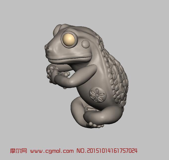 青蛙雕刻3D打印
