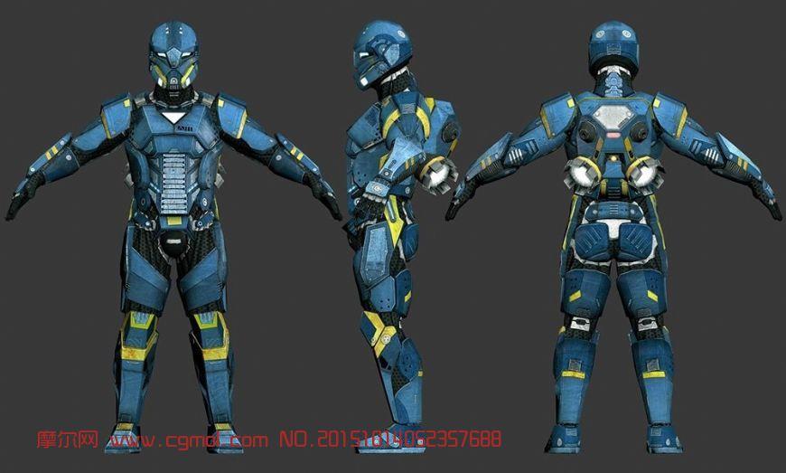动画角色 其他  标签:机器人科幻游戏铠甲战甲 作品描述:game model