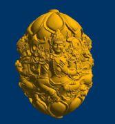 渡母勒子核雕 3D打印