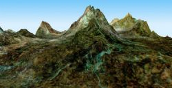 山峰3D模型