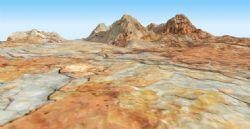 砂岩山3D模型