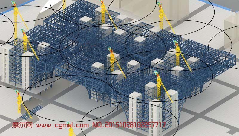 场景模型 其他  标签:塔吊布置图钢结构