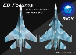 俄罗斯ED公司经典游戏LOCKON中的Su27战斗机模型