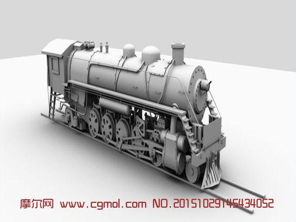 前进型蒸汽机车,火车,运输模型,3d模型下载,3D模型 ...