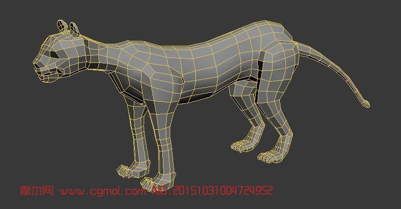 动物模型 其他  标签:豹子狮子