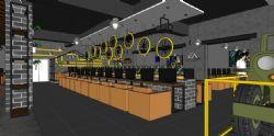 工业风网吧设计