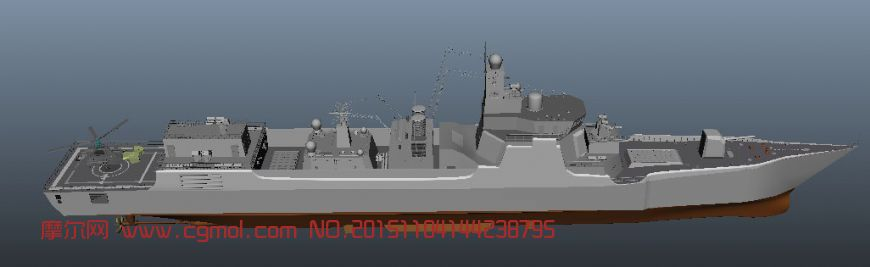 052D驱逐舰maya模型