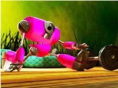简单的粉红机器人