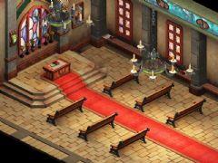 精美的Q版教堂场景3D模型,超精致的西方教堂大厅