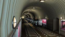 地铁通道场景,轨道交通动画