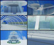 天空花园小区生长动画,未来式建筑
