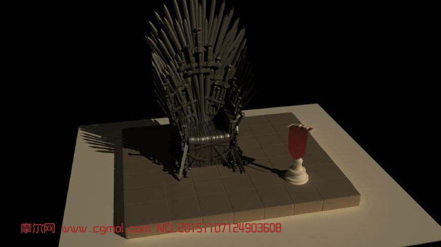 权力的游戏,铁王座模型