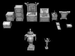 宝箱,古代屋内小物件