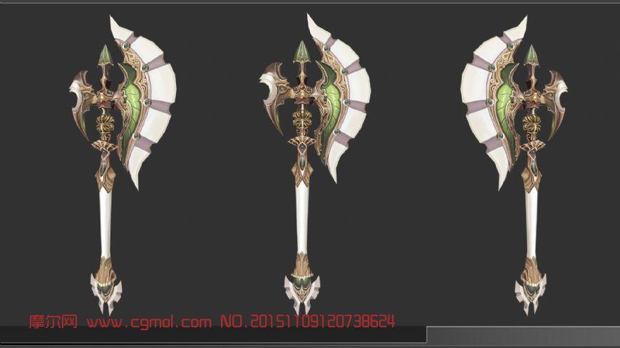 手绘,斧子,武器