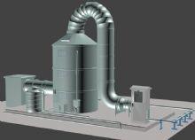 工厂部分建模,原图和贴图模型,布线工整