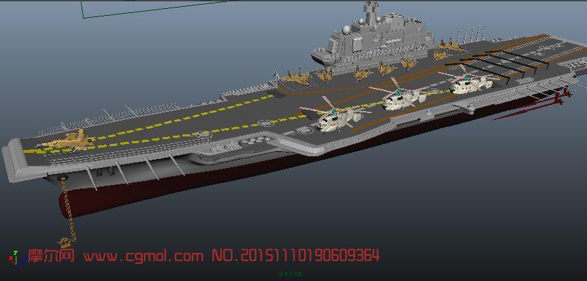 辽宁号航母,有歼15和卡31预警机