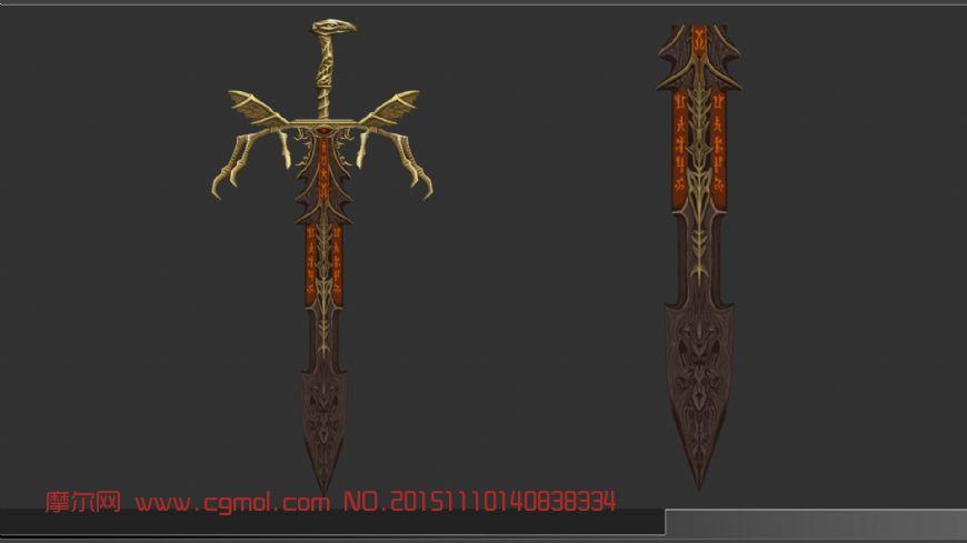 场景模型 其他  标签:武器剑冷兵器手绘游戏 作品描述: 作者其他作品