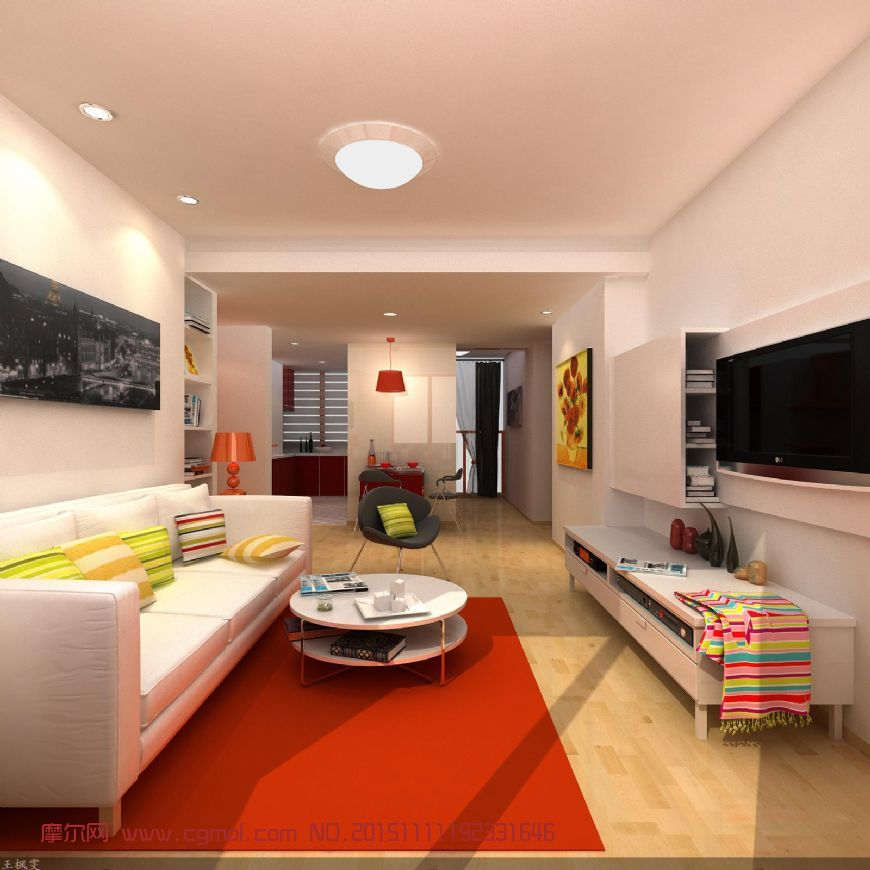 室内现代简装客厅