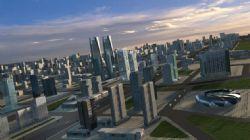 城市建筑鸟瞰图3d模型